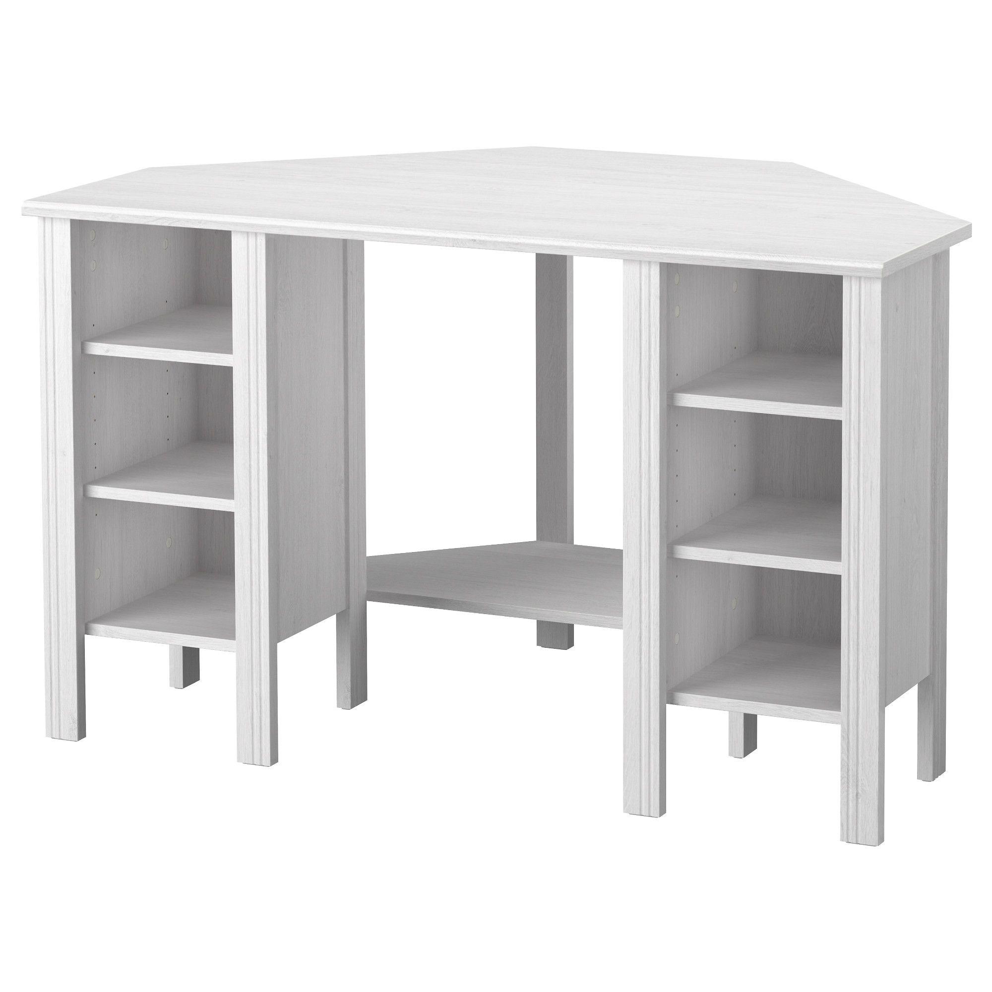 Brusali corner desk white ikea idei tatuaje ikea - Small corner desk with storage ...