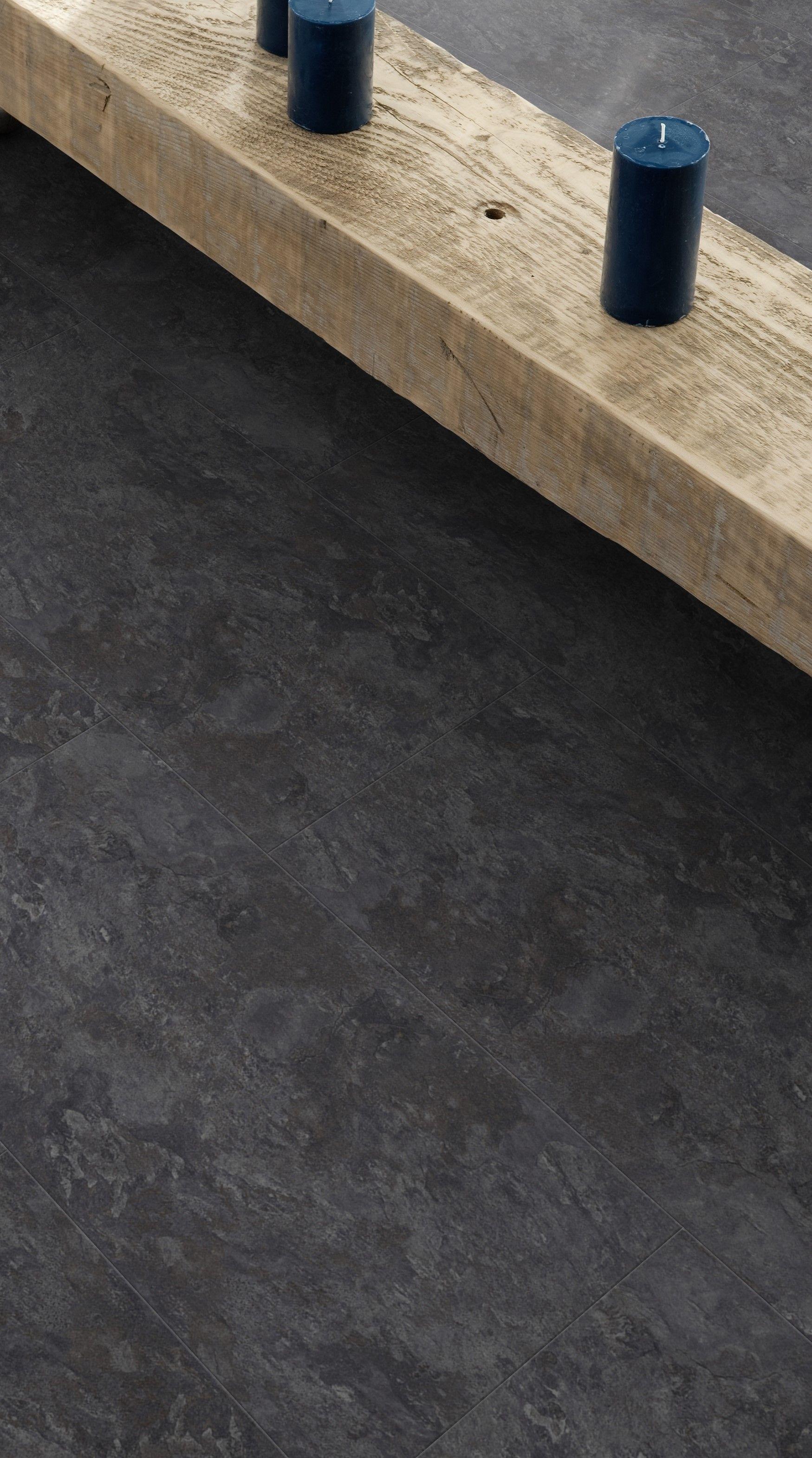 Deze Donkere Pvc Vloer Met Betonlook Is Strak En Luxueus