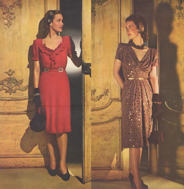 A pair of short evening dresses from Glamour magazine, December - küchen im retro stil