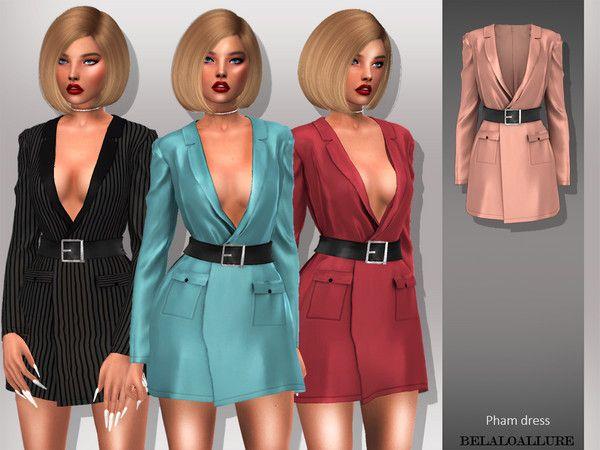 Belaloallure_Pham dress | Sims 4 Clothing females | Sims 4, Sims 4