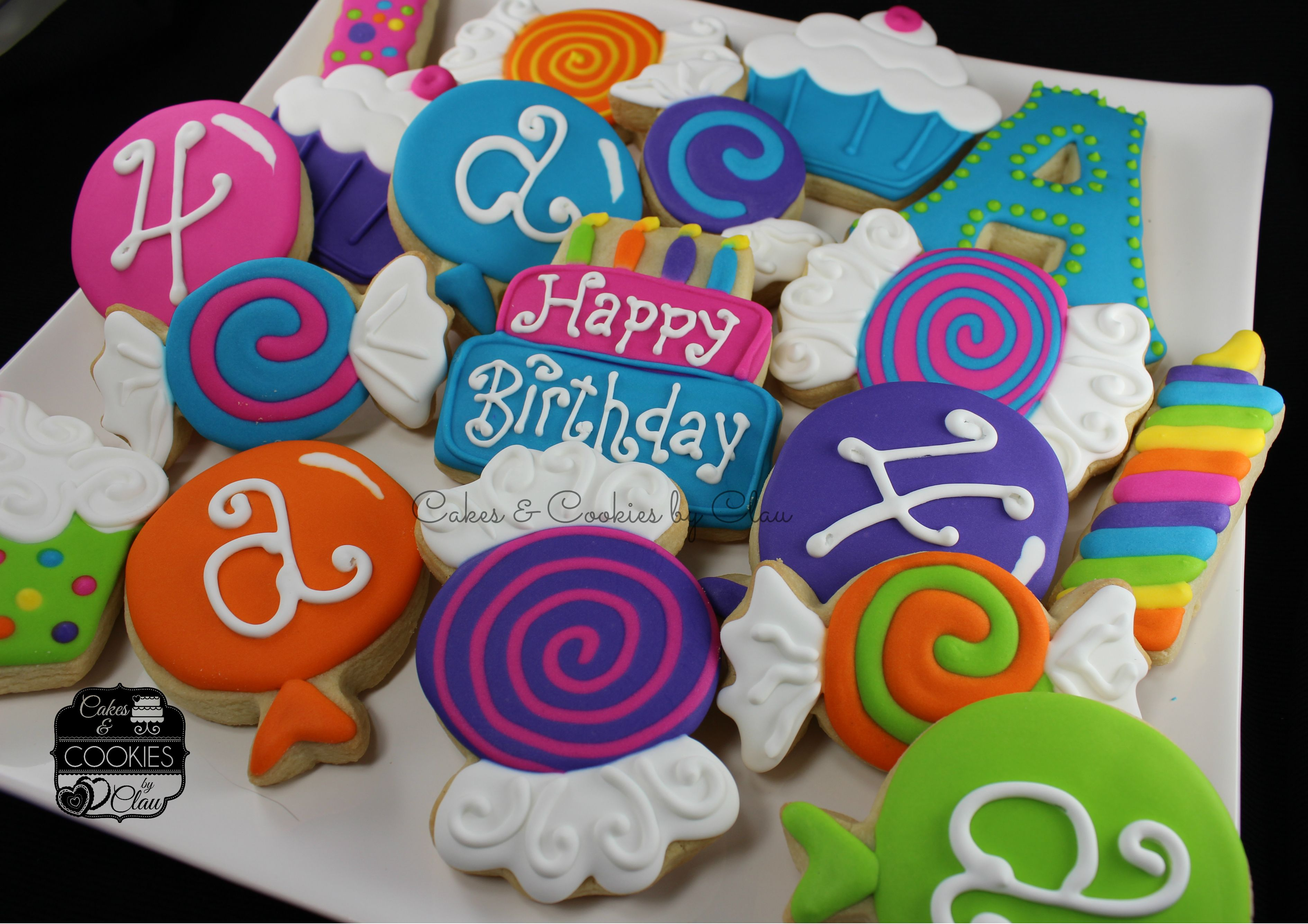 Birthday Party Cookies  by Cakes & Cookies by Clau