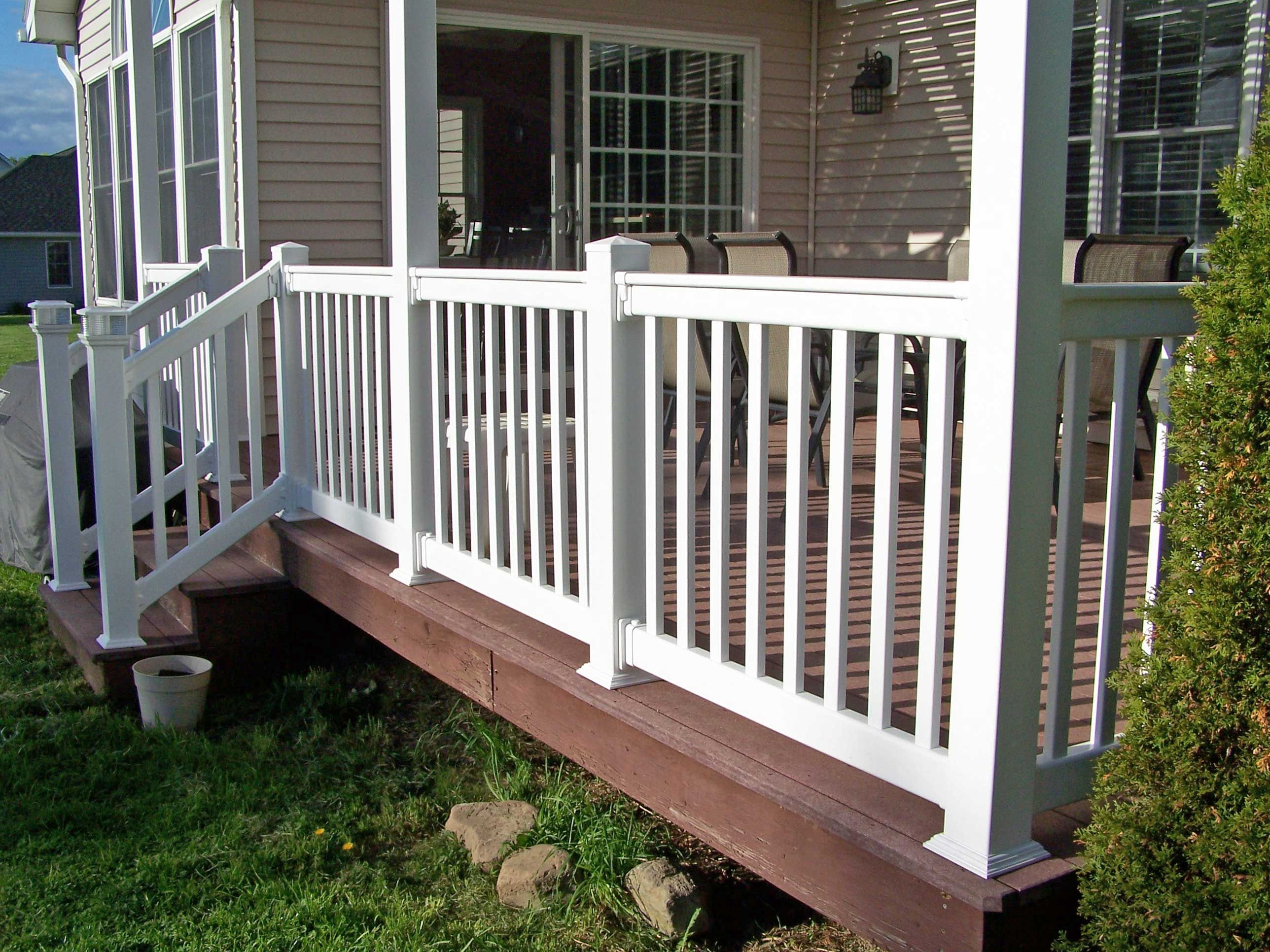 Railings At Wholesale Fence And Railings Llc Rochester Ny Railing Installs Porch Railing Designs Outdoor Porch Porch Railing