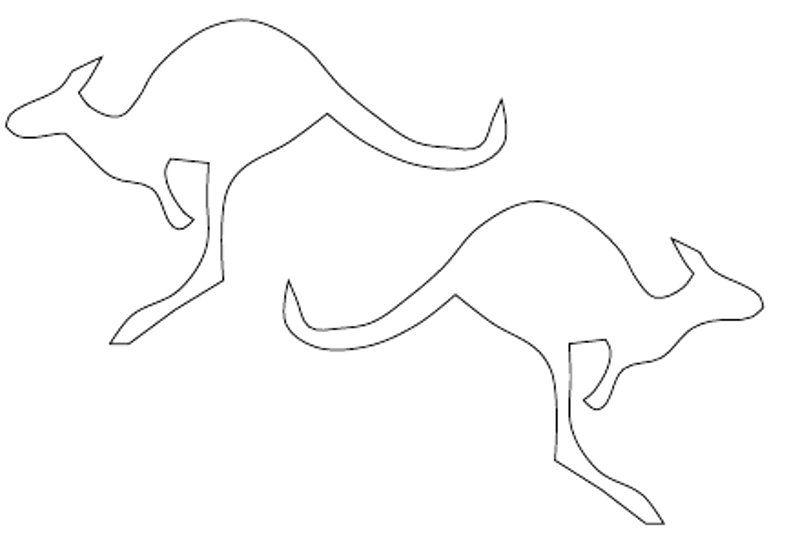 Kangaroo Outline Cliparts Outlines Pinterest