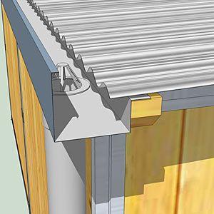"""Résultat de recherche d'images pour """"montage toiture bac acier sur ossature bois""""   Ossature ..."""