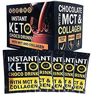 Keto Shake Chocolate Drink Snacks - High Protein Low Carb Delicious Instant Meal Replacement Ideal Ketogenic Diet Supplement for a Balanced Weight Loss Plan - 12 Grams Per Sachet X 12 Pieces Cupboard Pasta-Pulses Cupboard Spices-Seasonings Cupboard Minerals-Supplements Capsules Water Cupboard Supplies Mixes Flour-Mixe