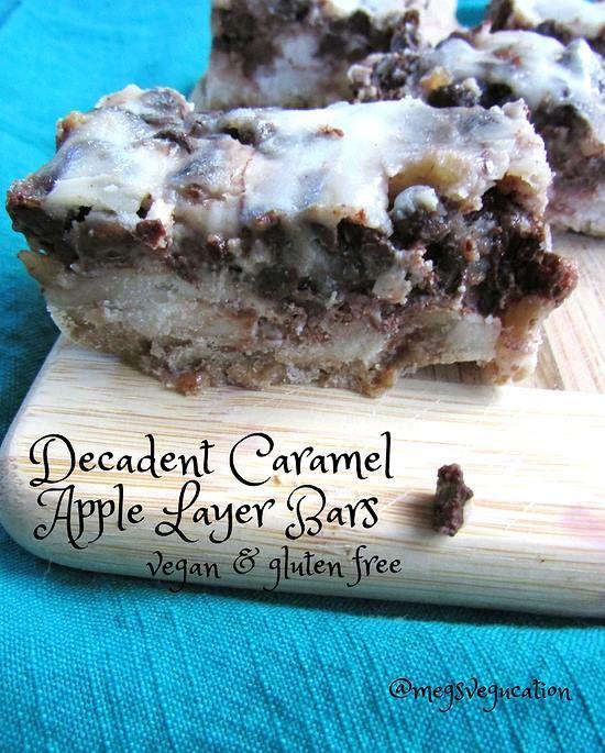 Decadent Caramel Apple Bars  #MegsVegucation