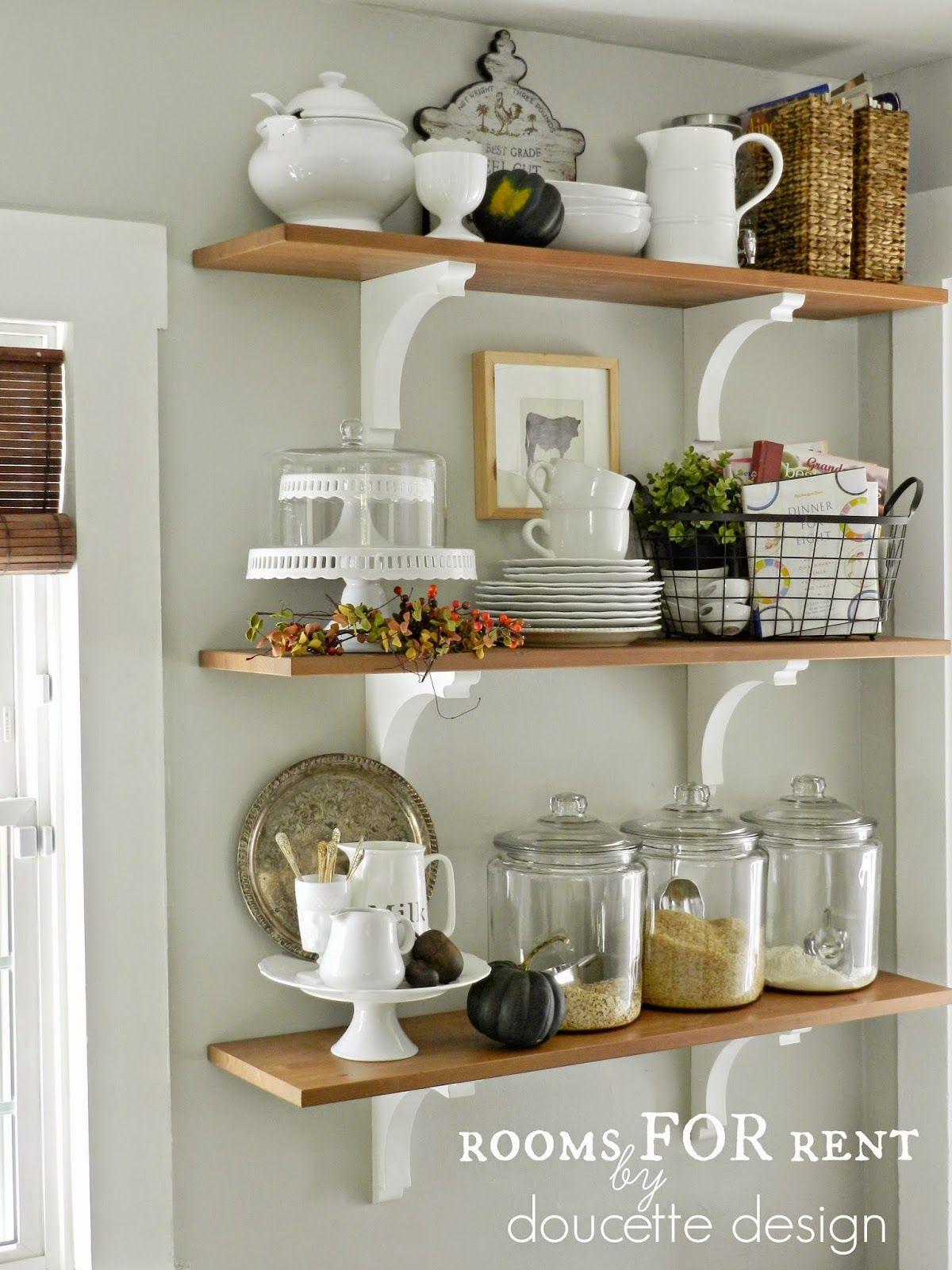 open shelves in the kitchen grey owl by benjamin moore dream
