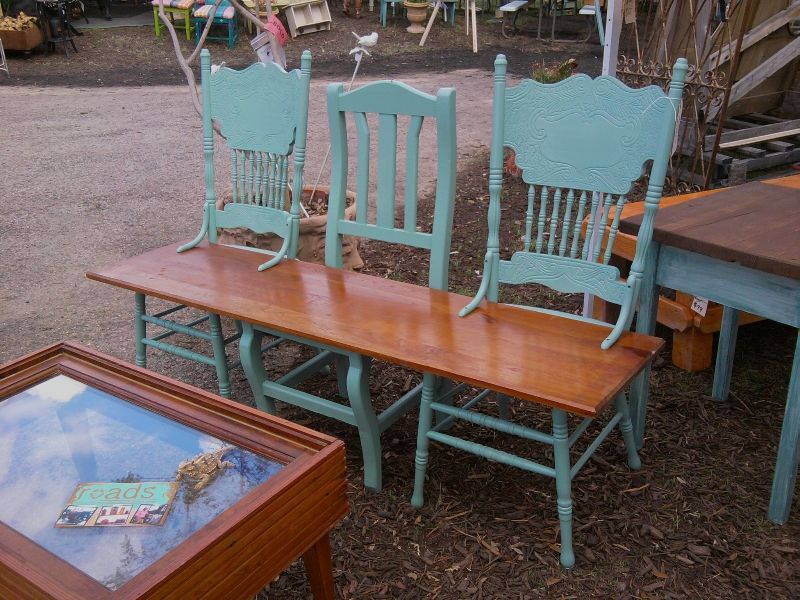 Delicieux Three Chair Bench And Window/molding Coffee Table.. Repurposing Materials!