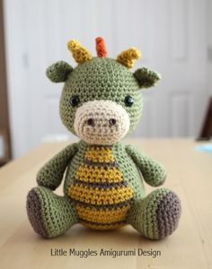Amigurumi Crochet Pattern - Spike the Dragon #littledolls