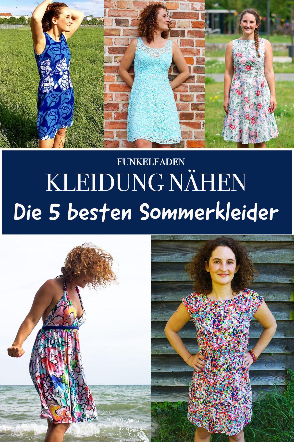 kleider nähen - die 5 besten sommerkleider zum nähen für