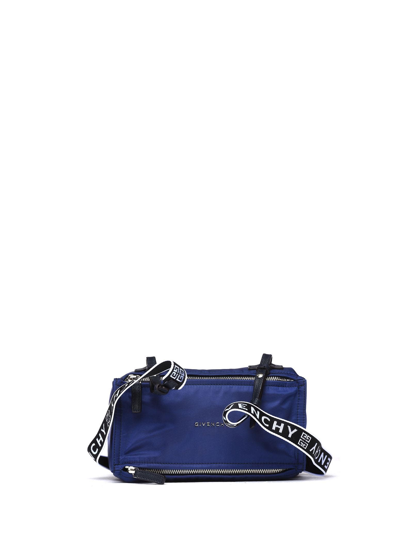 GIVENCHY PANDORA MINI 4G HANDLE BAG IN BLUE NYLON AND LEATHER.  givenchy   bags  shoulder bags  hand bags  nylon  leather 4ba543fddbaa5