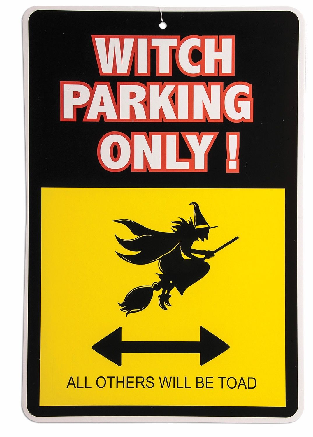 """13/"""" Warning Sign Witch Parking Halloween Party Decoration Décor Prop Funny"""