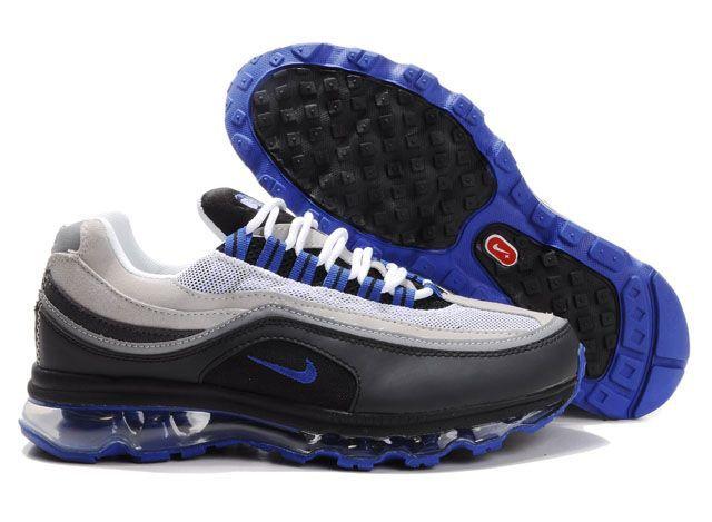 Nike Air Max 24-7 Shoes Black Blue White Mens 3141