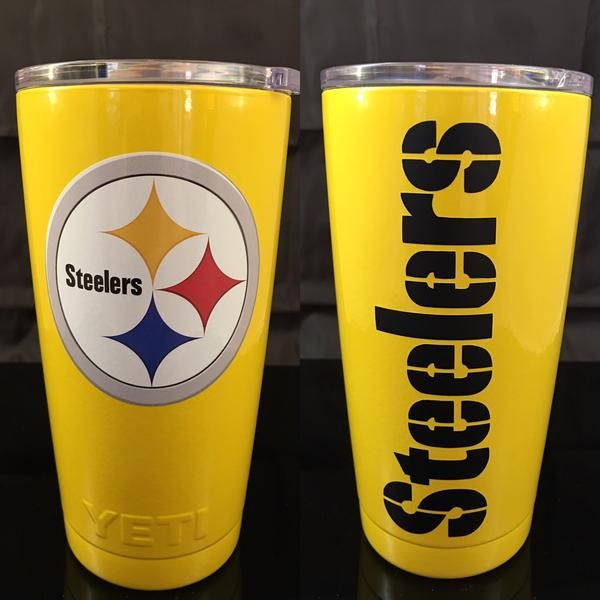 Steelers Yeti Rambler Tumblers Bottles Colters Powder Coated