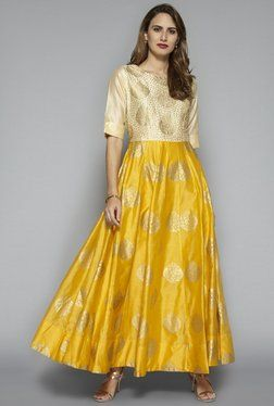 2b507d78cc Vark by Westside Yellow Ethnic Maxi Dress | Worthy ones in 2019 ...