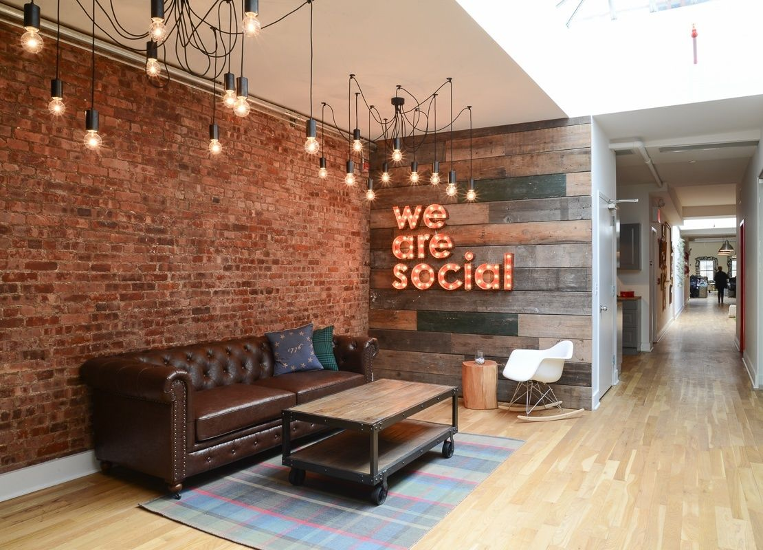 Inside we are social s gorgeous office in new york city for Office interior design nyc