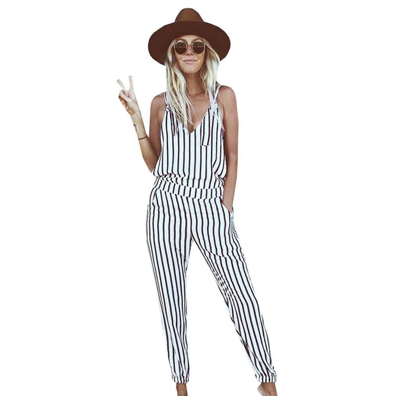 Women Striped White Jumpsuit //Price: $15.39 & FREE Shipping ...