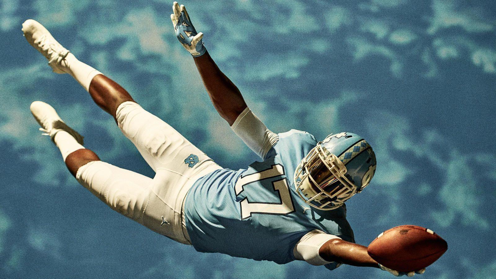b871629e39b0 Nike News - Jordan Brand Reveals the University of North Carolina Football  Uniforms  basketballrules
