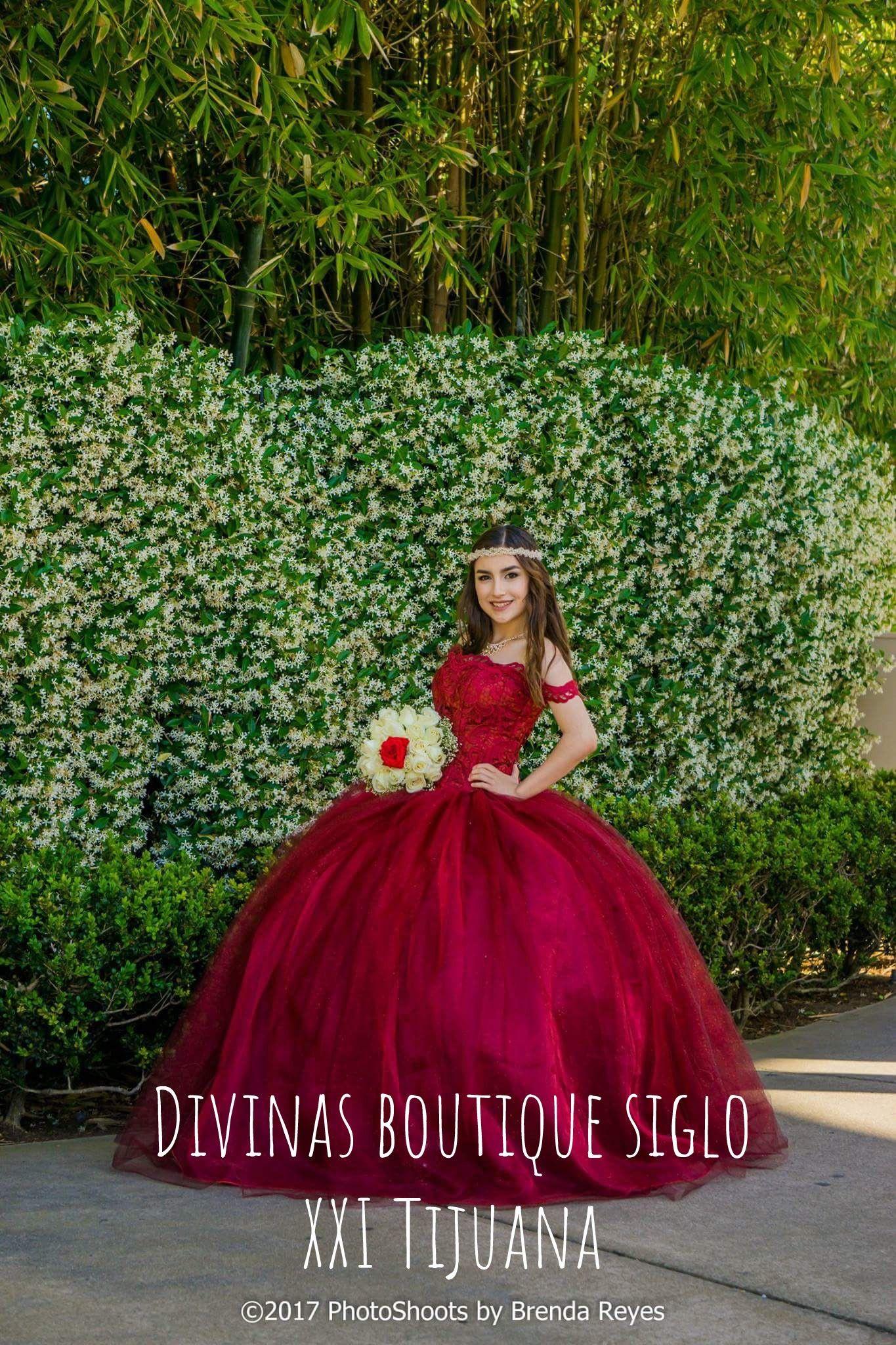 Vestido Xv Años Color Guinda Tijuana Mx En 2019 Vestidos