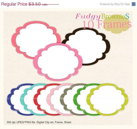 Digital Frame, Color Frames Clip Art, white background frame ...
