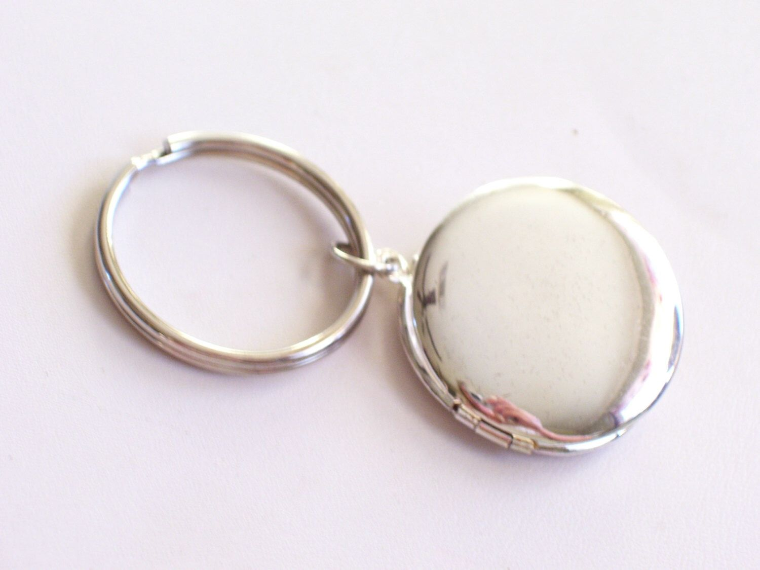p keychain charms holder of picture photo memory locket living keyring silver crystal round s lockets glass