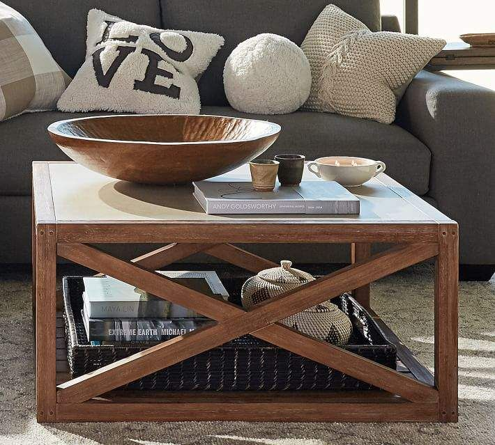 Excellent Pottery Barn Grove Square Coffee Table In 2019 Products Pabps2019 Chair Design Images Pabps2019Com