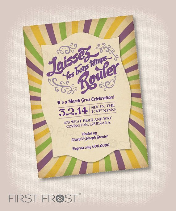 photograph regarding Free Printable Mardi Gras Invitations named Mardi Gras Invitation Free of charge Printable Mardi Gras Celebration