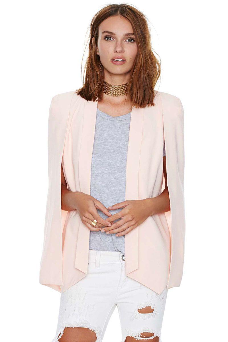 Champagne solid color unique female small suit jacket 2015 ...