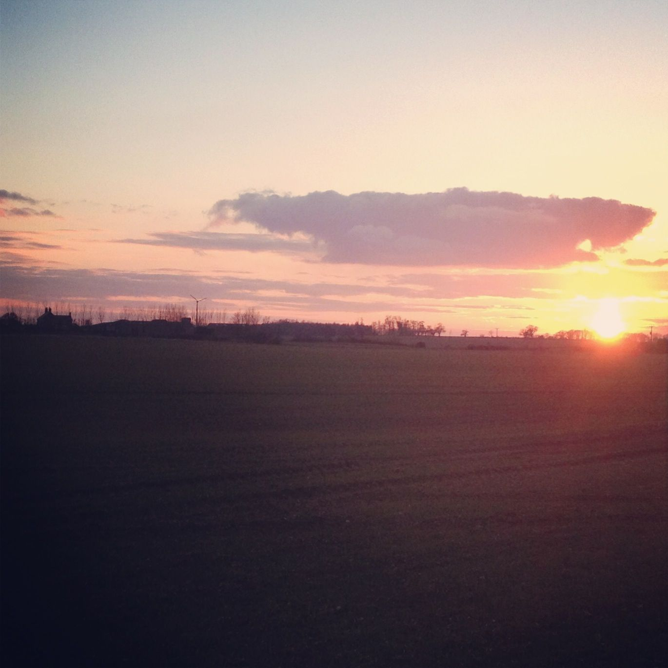 Sunset Saturday back home in East Yorkshire