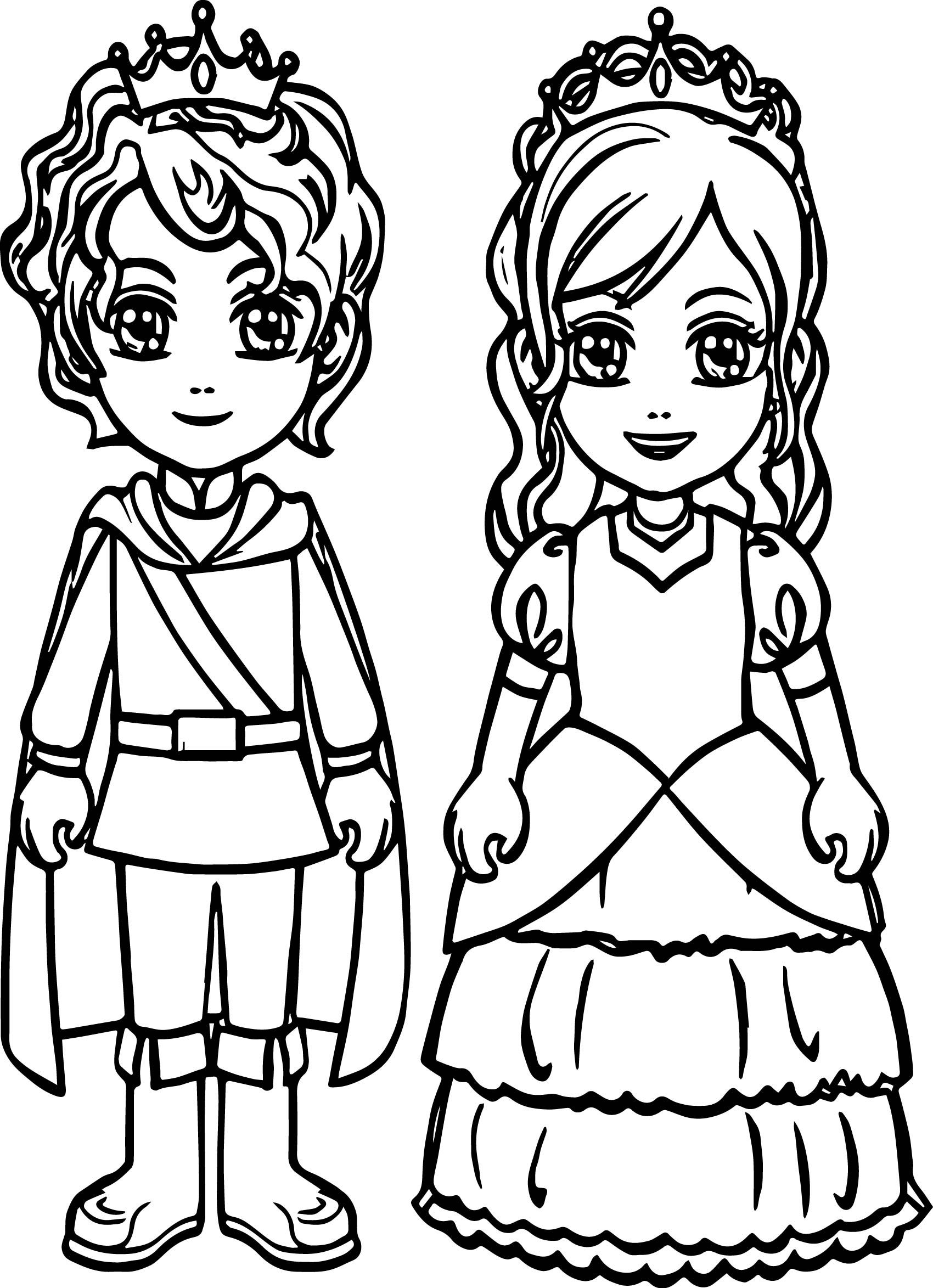 Awesome Boy Prince Girl Princess Coloring Page Princess Coloring Pages Princess Coloring Princess Coloring Sheets