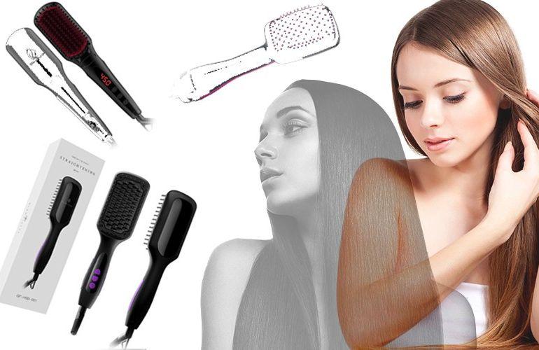 2.0 Irons Hair Straightening brush Hair brush