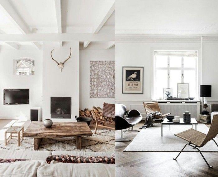Beeindruckend Wohnzimmer Einrichtungsideen Farben Impressionnant Wohnzimmer  Minimalistisch Einrichten Doch Mit Eigenem Charakter #MinimalistDecorWall