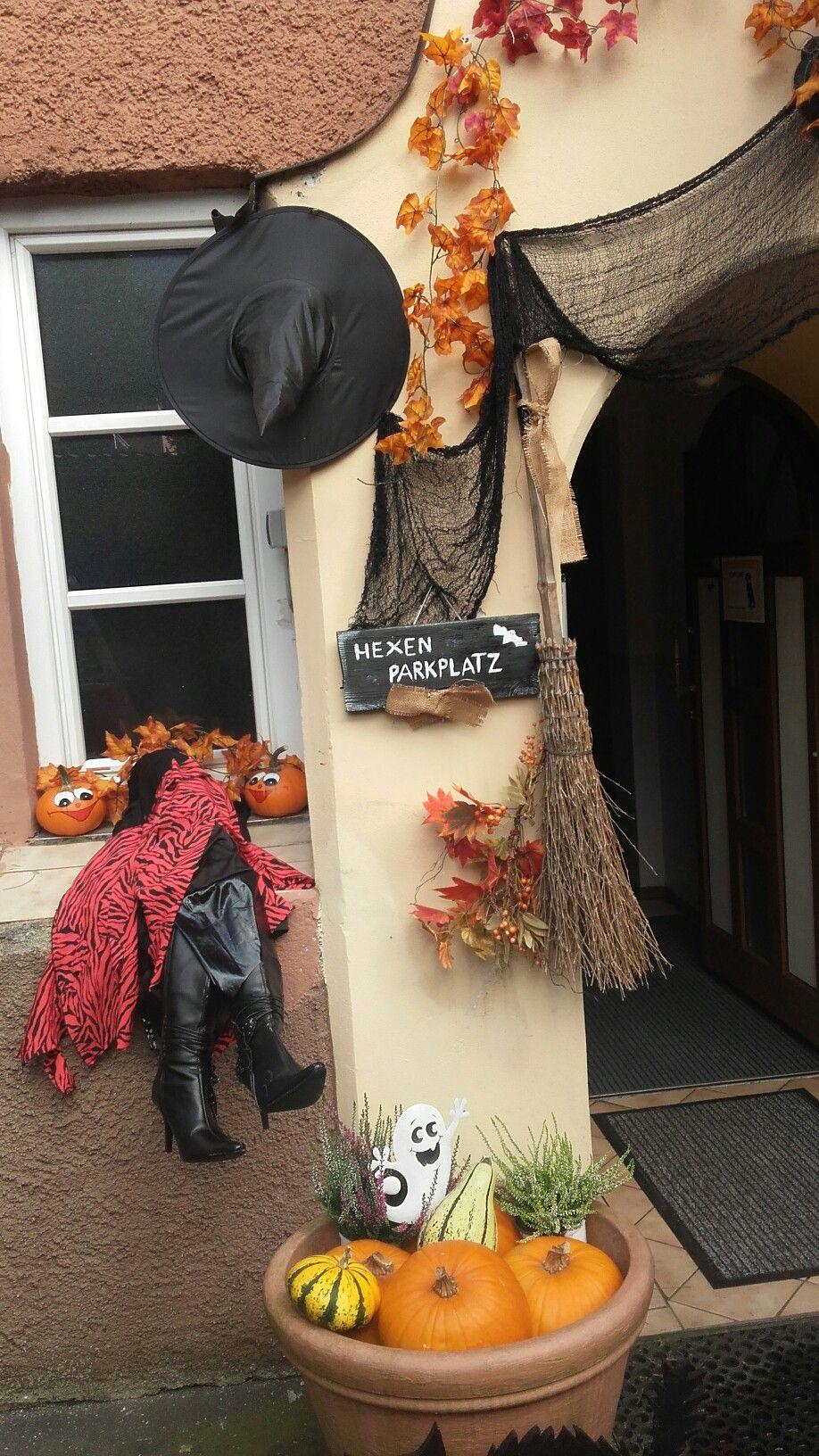 Herbst Halloween deko Hauseingang