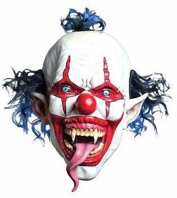 mascara de payaso demonio unitalla adulto halloween
