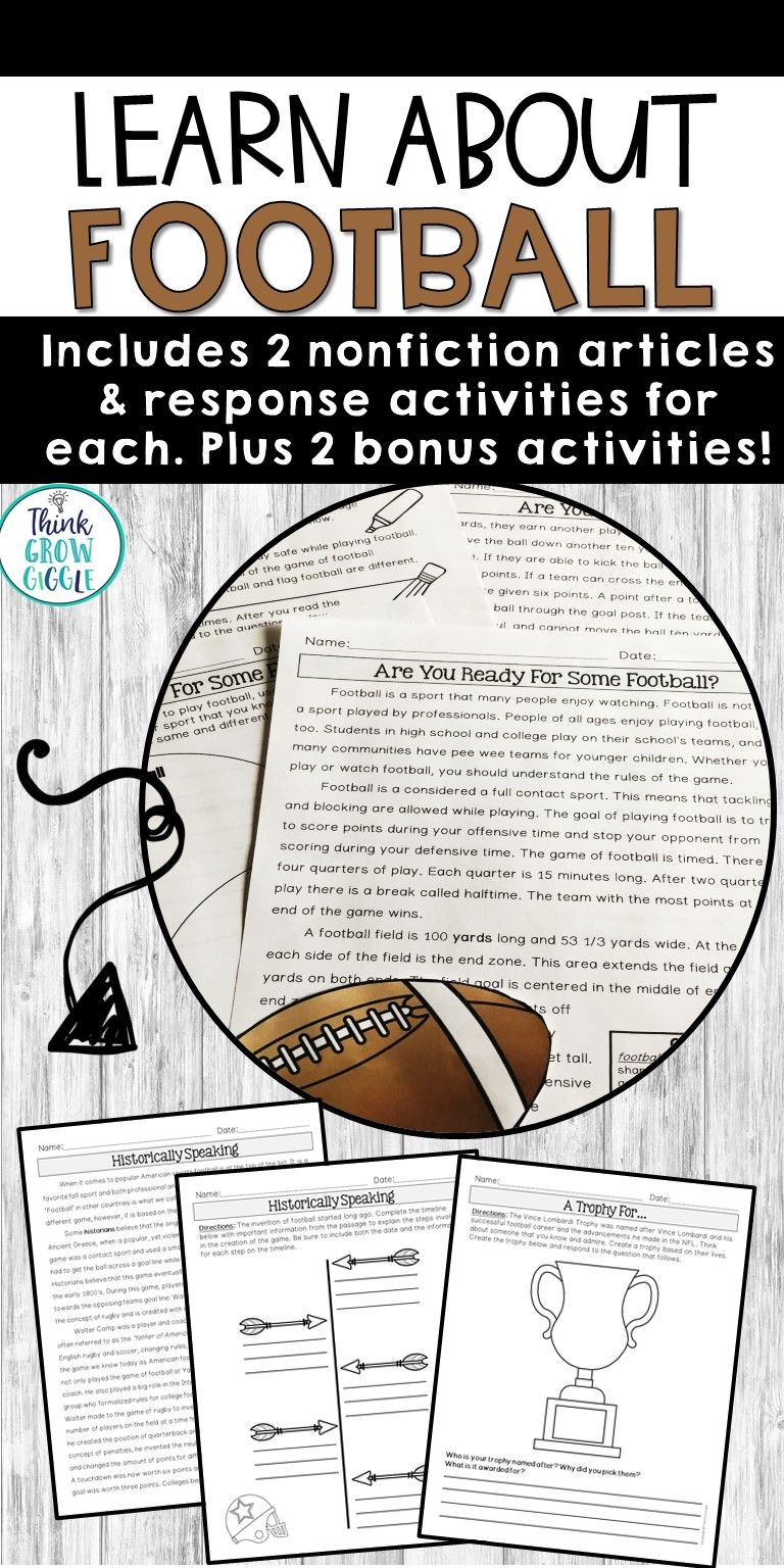 Engage Your Students With Football Close Reading Activities Bring The Excitement Of Footbal Reading Comprehension Passages Close Reading Comprehension Passage [ 1536 x 768 Pixel ]