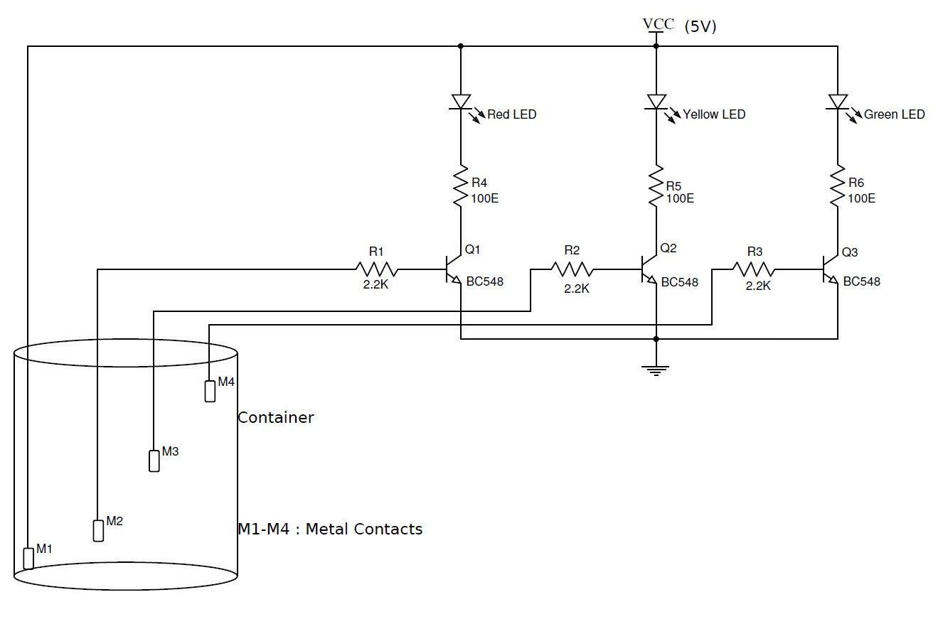 simple water level indicator with alarm 3 tested circuits make water level controller circuit water level indicator circuit diagram [ 1326 x 878 Pixel ]