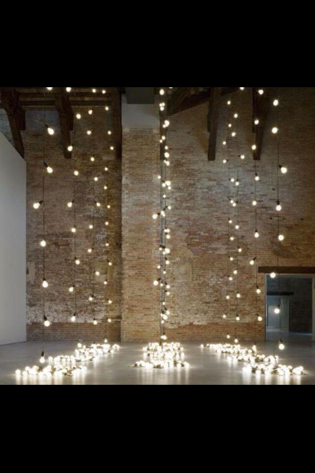 Fairy Lights Put Behind Vertical Garden Wedding Lights Ceremony Backdrop Lights