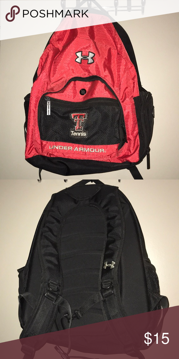 218ef14dee51 Under Armor Texas Tech Backpack Under Armor Texas Tech tennis backpack. Great  condition! WTN Under Armour Bags Backpacks