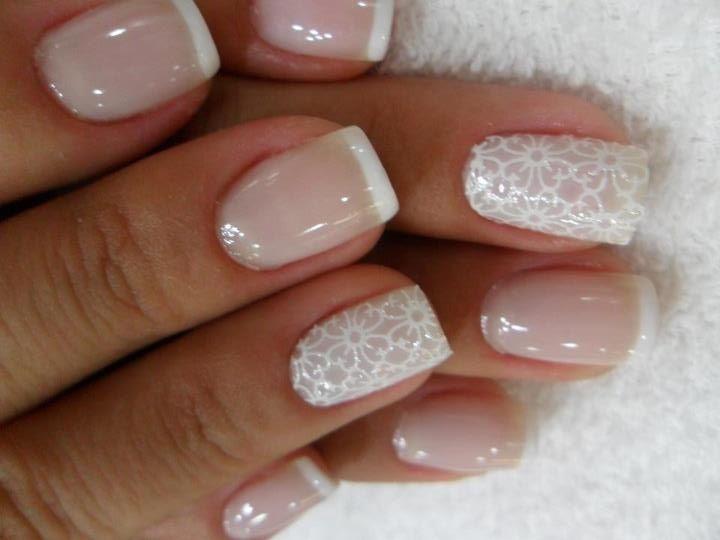 Wedding Nail Designs Glossy White Acrylic Art Inspiration