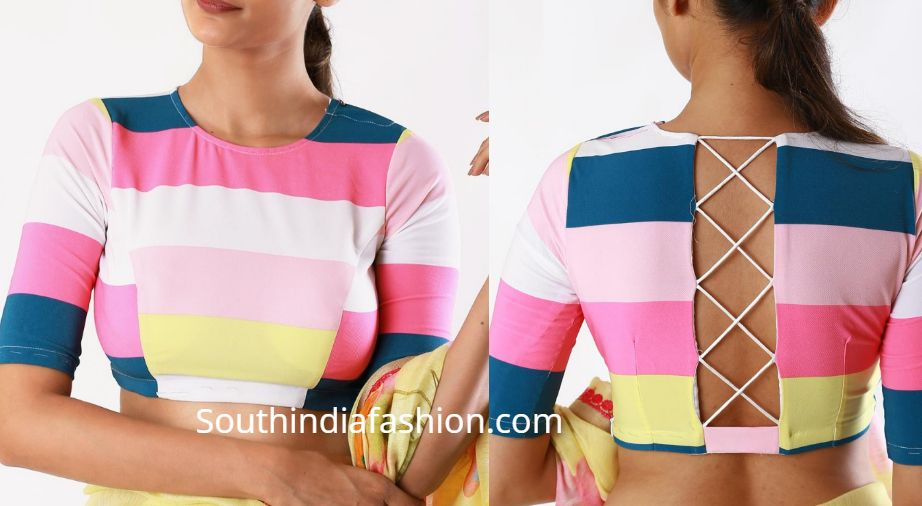 Latest Blouse Front And Back Side Neck Designs Blouse