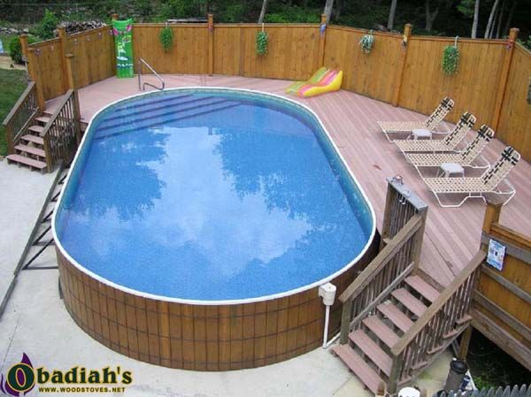 contemporary pool decks above ground pool deck ideas access platform stairs garden privacy fence - Above Ground Pool Privacy Fence Ideas