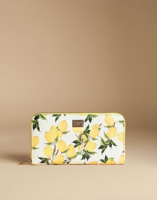 2349336cbc Zip around wallet in printed dauphine leather   dolce&gabbana online store
