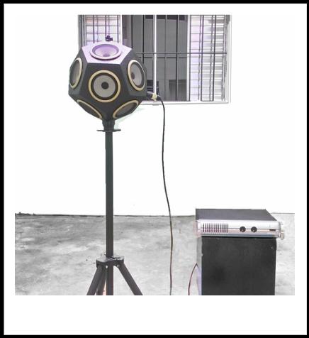 FSO OM-300 fonte sonora omnidireccional Isolamento acústico NBR 15575 ISO 3382 ISO 140