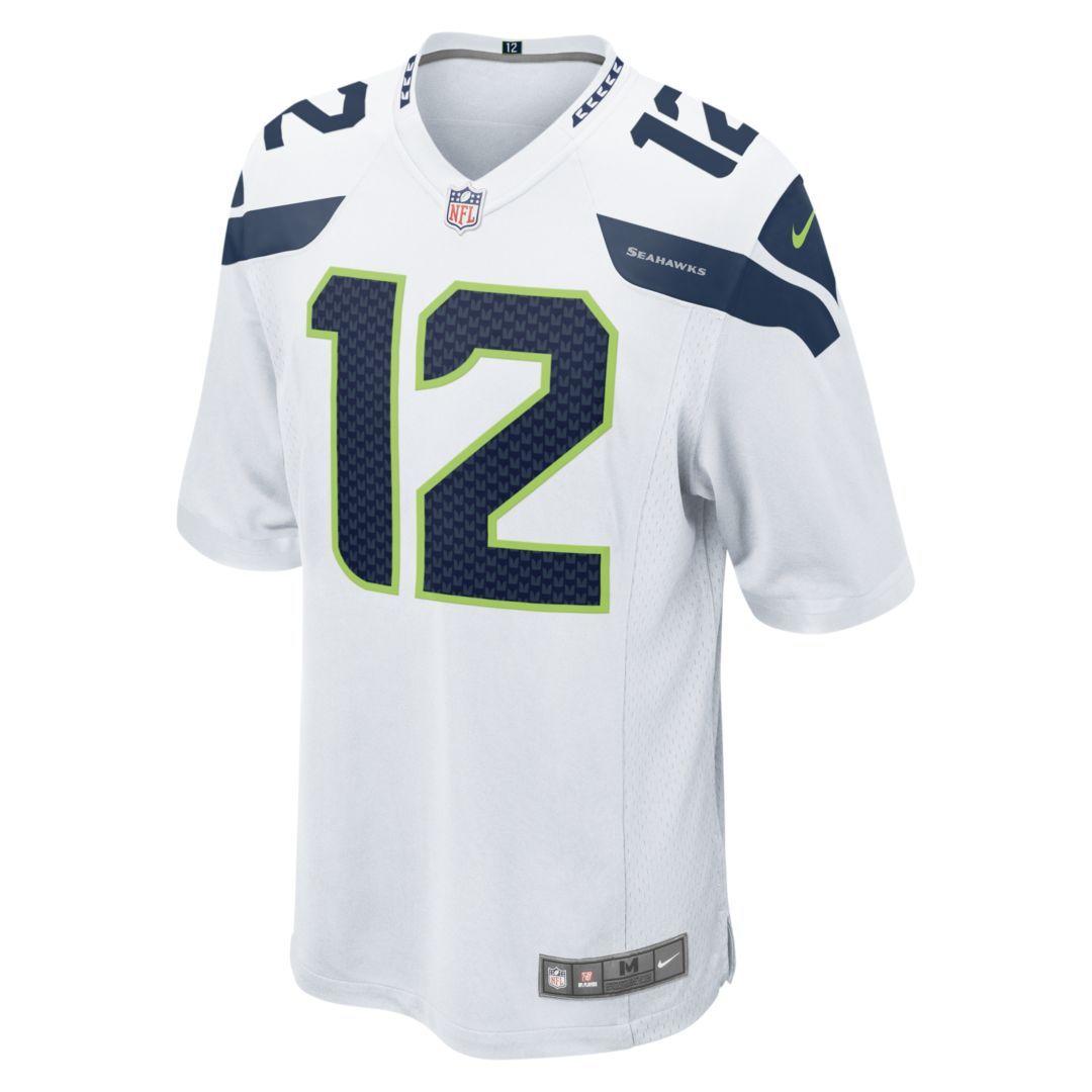 NFL Seattle Seahawks (Fan) Men s Football Away Game Jersey Size XL (White) f24090de6