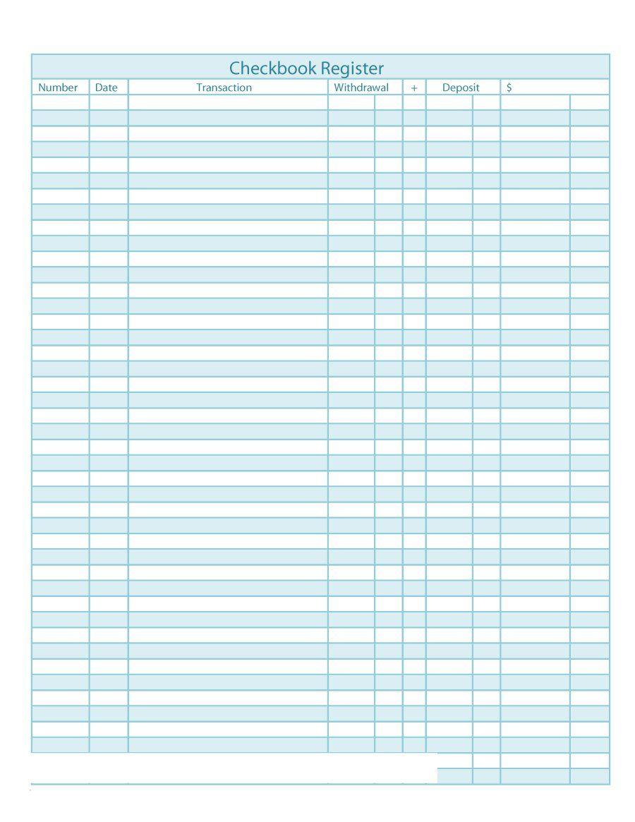 Checkbook Register Template Checkbook Register Check Register Printable Check Register