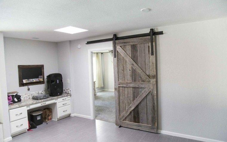 Puertas correderas de madera para el cuarto de baño