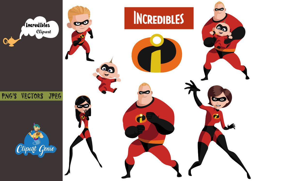 The Incredibles 2 Clipart Party