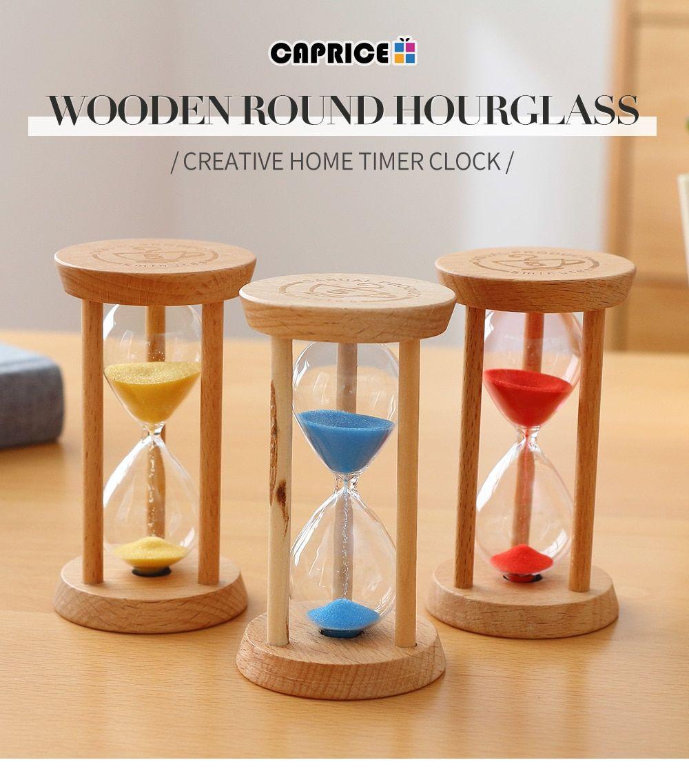 Hause Dekoration Zubehor Sanduhr 3 Minuten Sand Uhr Uhr Glas Holz