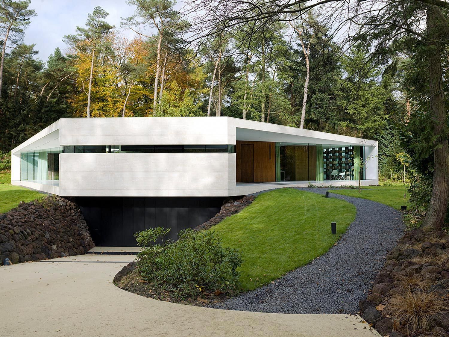 Modern Architecture Contracting Co Contemporaryarchitecture Underground Garage Futuristic Home Minimalist Architecture