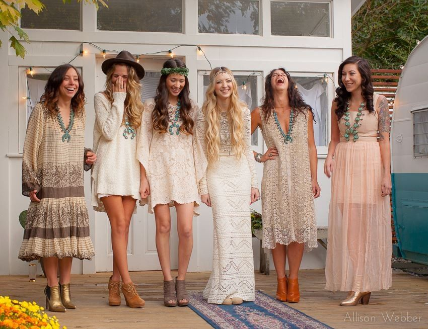 50 Chic Bohemian Bridesmaid Dresses Ideas | Wedding!, Boho and ...